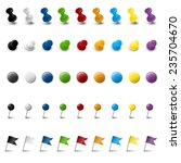 collection of nine colored... | Shutterstock .eps vector #235704670