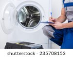 repairman is repairing a... | Shutterstock . vector #235708153