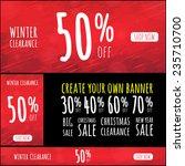 christmas sale banner | Shutterstock .eps vector #235710700
