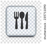silverware on transparent... | Shutterstock .eps vector #235711090