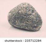 Single Stone Isolated On White...
