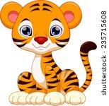 cute tiger cartoon | Shutterstock .eps vector #235715608