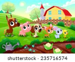 Funny Farm Animals In The...