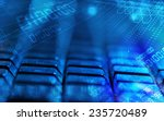 computer keyboard with glowing... | Shutterstock . vector #235720489