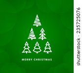 christmas tree with green... | Shutterstock .eps vector #235725076