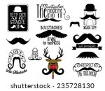 mustaches   set of black and... | Shutterstock .eps vector #235728130