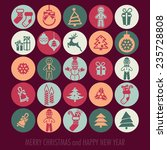 merry christmas and happy new... | Shutterstock .eps vector #235728808