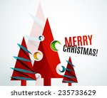 christmas tree geometric design ... | Shutterstock . vector #235733629