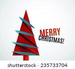 christmas tree geometric design ... | Shutterstock . vector #235733704