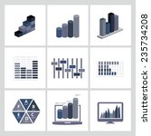 analysis business and economic... | Shutterstock .eps vector #235734208