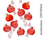 vector watercolor abstract... | Shutterstock .eps vector #235739416