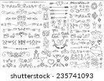 doodles border arrow brushes... | Shutterstock .eps vector #235741093