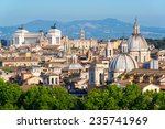 Aerial Scenic View Of Rome In...