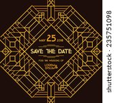 save the date   wedding... | Shutterstock .eps vector #235751098