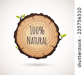 tree growth rings logo icon ... | Shutterstock .eps vector #235756510