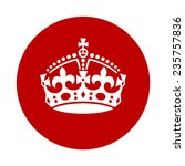 vintage keep calm crown icon .... | Shutterstock .eps vector #235757836
