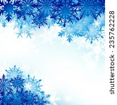winter background  snowflakes   ... | Shutterstock .eps vector #235762228