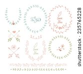 cute frames hand drawn.... | Shutterstock .eps vector #235765228