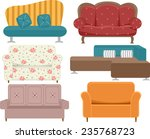 illustration of sofas with...   Shutterstock .eps vector #235768723