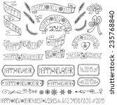 set of vector christmas ribbons ... | Shutterstock .eps vector #235768840