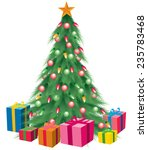 christmas tree colorful bright... | Shutterstock .eps vector #235783468