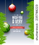 happy new year and merry... | Shutterstock .eps vector #235788223
