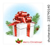 christmas background with... | Shutterstock .eps vector #235790140