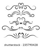 set of page decoration line... | Shutterstock .eps vector #235790428