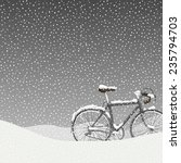 Snow Covered Bicycle  Calm...