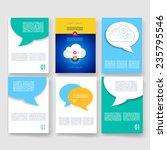 vector brochure design... | Shutterstock .eps vector #235795546
