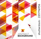 abstract modern flyer  ... | Shutterstock .eps vector #235796956