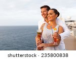 cute young couple on cruise trip | Shutterstock . vector #235800838