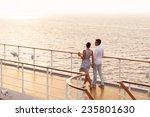 Cute Couple Walking On Cruise...