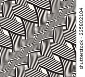 wavy striped interlacing... | Shutterstock . vector #235802104
