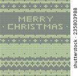 knitted pattern. vector... | Shutterstock .eps vector #235803988