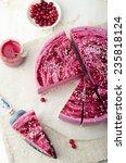 raw vegan berry cheesecake... | Shutterstock . vector #235818124