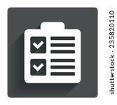 checklist sign icon. control...