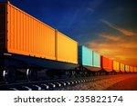 3d illustration of wagon of...   Shutterstock . vector #235822174
