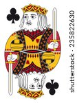 king of clubs without playing... | Shutterstock .eps vector #235822630