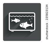 aquarium sign icon. fish in...