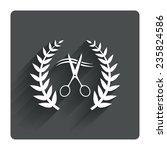 scissors cut hair sign icon....