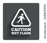 caution wet floor sign icon....
