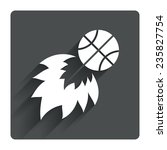 basketball fireball sign icon....