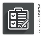 checklist with pencil sign icon....
