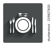 plate dish with forks and...