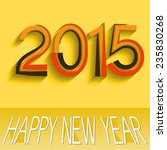 2015 happy new year design | Shutterstock .eps vector #235830268