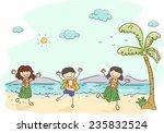 illustration of kids wearing...