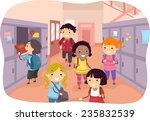 illustration of kids scattered...   Shutterstock .eps vector #235832539
