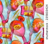 seamless watercolor wallpaper... | Shutterstock . vector #235833424