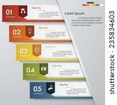 design clean number banners... | Shutterstock .eps vector #235834603